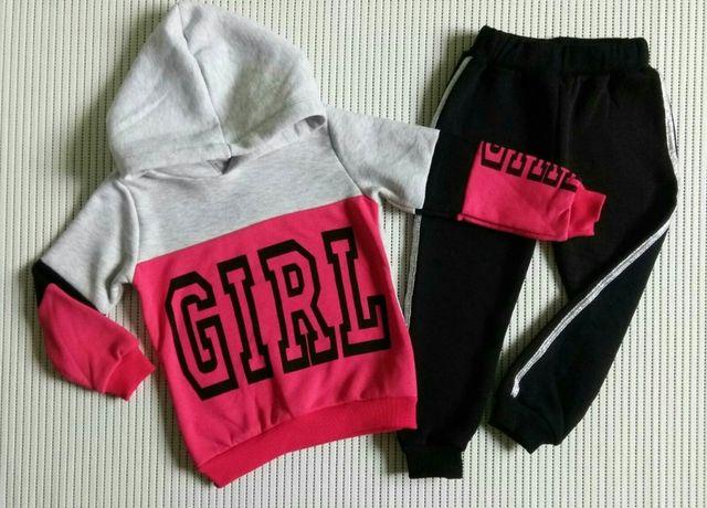 Теплый спортивный костюм для девочки 4-5 лет