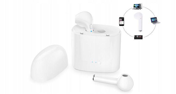 Słuchawki bezprzewodowe bluetooth i7s białe Kielce - image 1