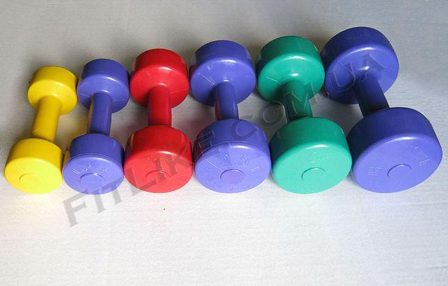 Гантели 0,5кг, 1кг, 1,5кг, 2кг, 2,5кг, 3кг, 4кг для фитнеса, аэробики