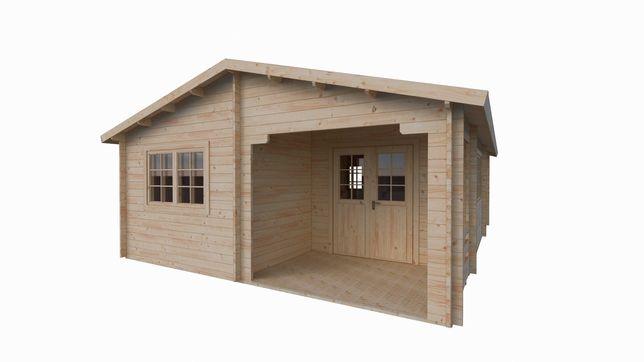 BRATEK drewniany dom letniskowy 39m2 600x800!