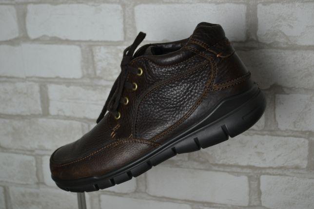 Зимние кожаные ботинки Ecco Черевики шкіряні зимові 44 размер 28,5 см