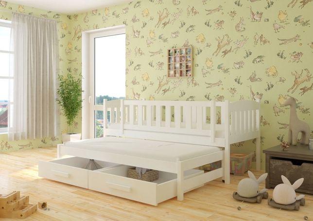 Łóżko podwójne wysuwane 2 os. dla dziecka w kolorze BIAŁYM!