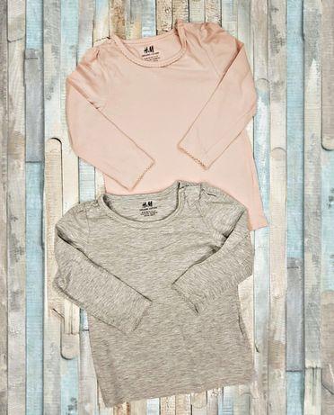 Zestaw dwóch bluzek H&M rozmiar 92