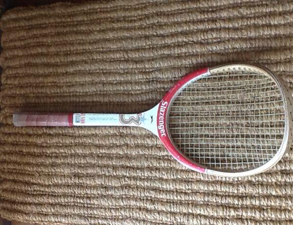 Raquete de Tennis,Slazenger, em madeira
