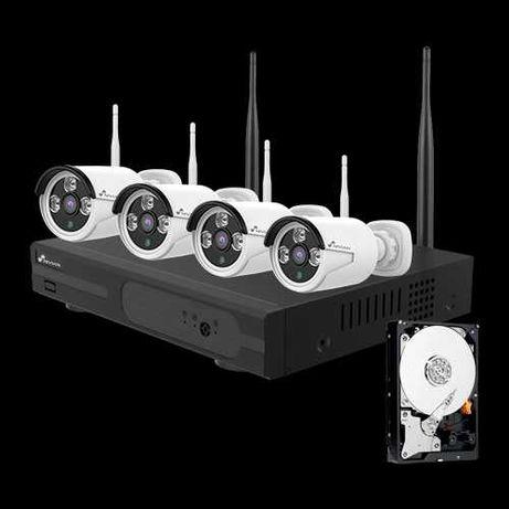 Nivian - Kit de videovigilância WiFi - NV-KIT830W-4CAM-1TB