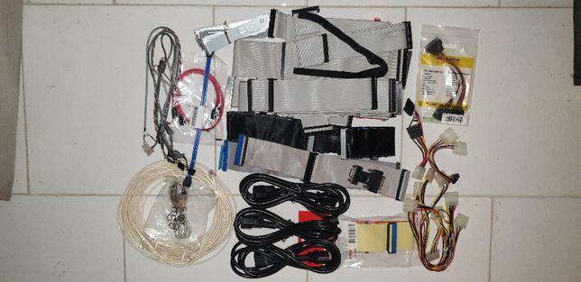 Conjunto de cabos diversos para PC