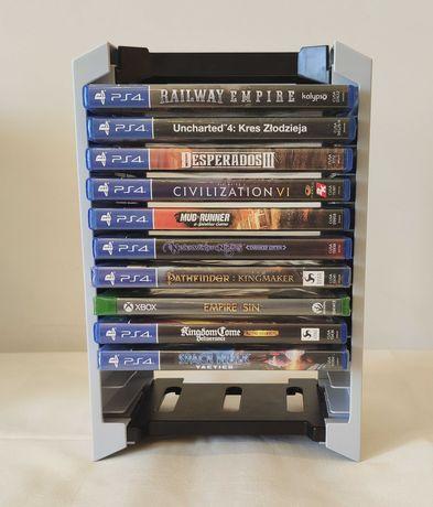 Regał regalik stojak na płyty gry PS4 PS5 Xbox Bluray NOWOŚĆ!
