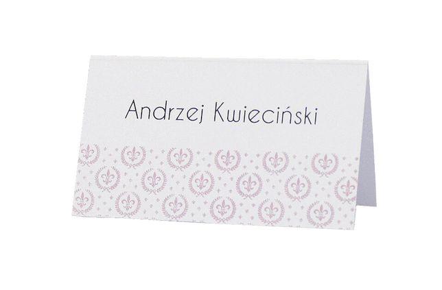 Winietki na stół weselny – kolekcja ROYAL RÓŻ - 6 szt