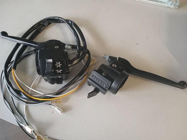 Simson S51 klamki dźwignie przełącznik zespolony prawy lewy komplet