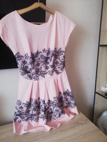 Продам плаття коралового кольору 42-44р