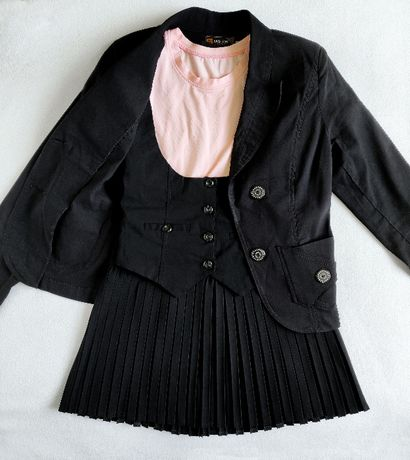 Школьная форма для девочки (пиджак, жилетка, юбка)