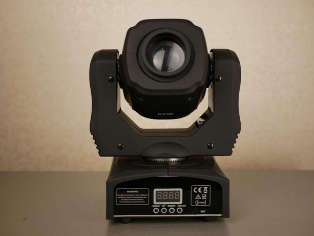 HongYi 60W DMX Moving head светодиодная голова, прожектор