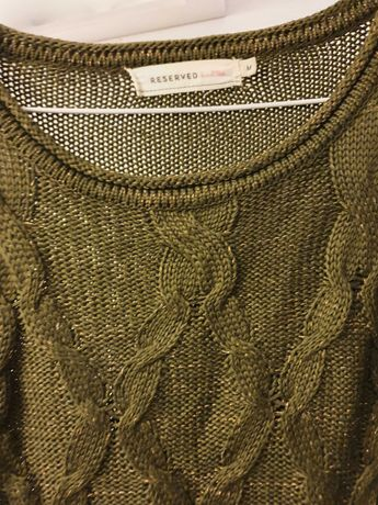 Reserved sweter zielony M, L