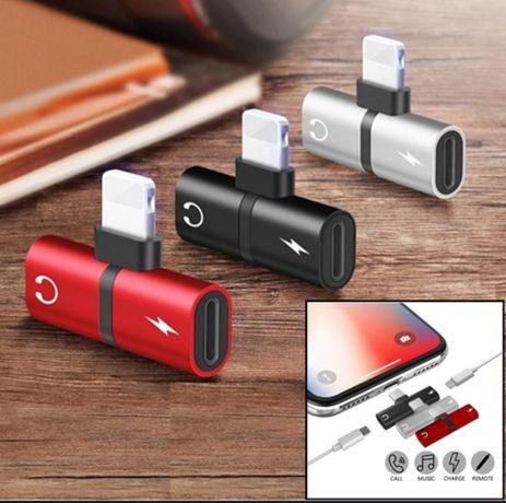 Adaptador IPhone 2 em 1 (auricular + carregador)