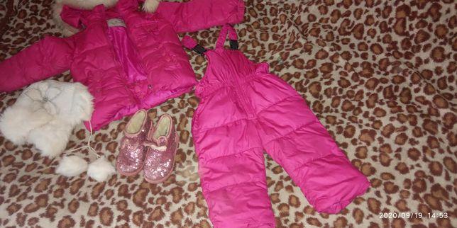 Зимовий фірмовий комплект Moncler на дівчинку 2-3 роки!