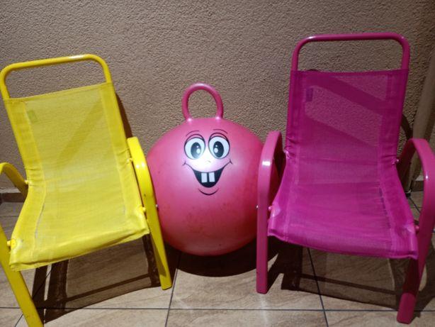 Krzesła 2szt. i piłko - skoczek