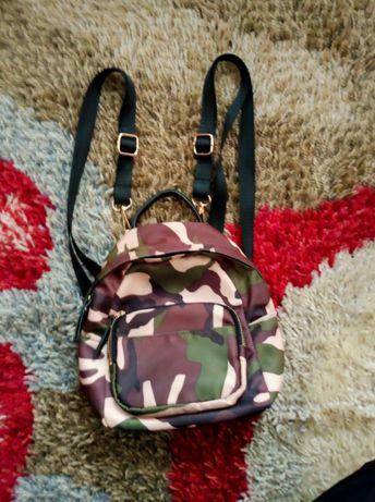 Mały plecak plecaczek moro