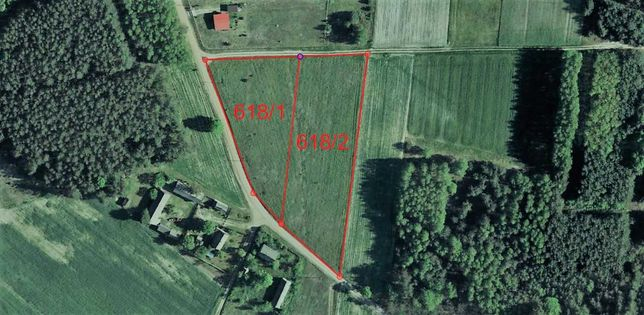 Działka 4448 m² Luszawa, gmina Ostrówek, powiat Lubartów