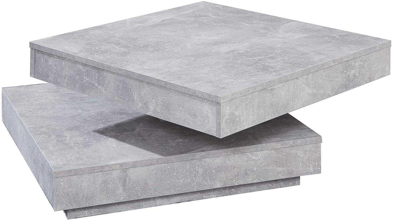 OUTLET - stół kawowy ława szara beton do salonu obrotowy blat