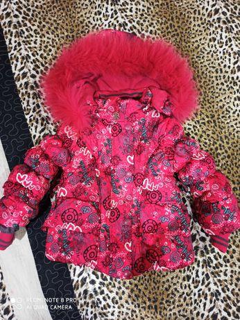 Зимовий бомбез та куртка для дівчинки. Костюм.