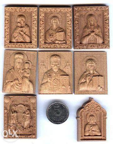 Ікона деревянная икона резная из дерева большая миниатюрная венчальные
