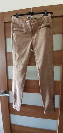 """Spodnie """"ala zamszowe"""" H&M 38"""