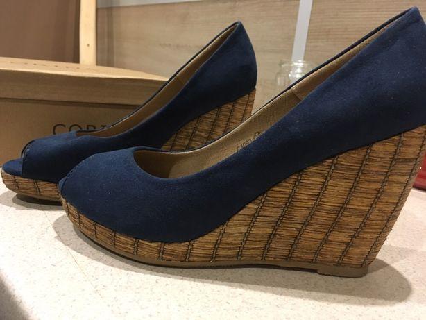 Koturny,półbuty na koturnie,buty letnie rozmiar 36,jak nowe sprzedam