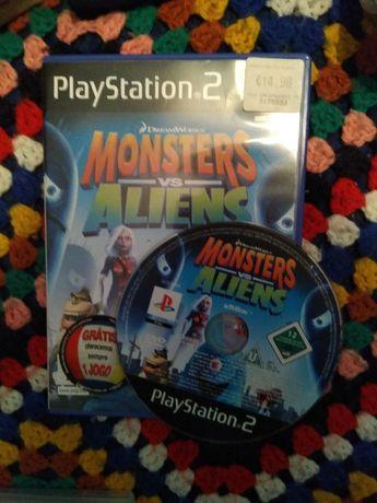 Jogo PS2 Monstros vs aliens