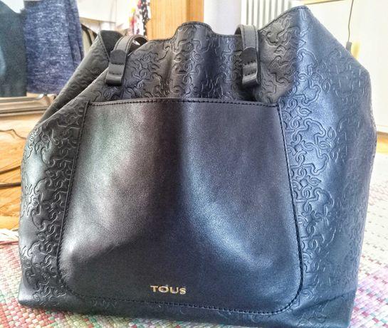 Tote bag média Mossaic em pele na cor preta TOUS (entrega em mão)