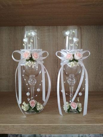 Свадебные бокалы, стекло Богемия (Чехия)