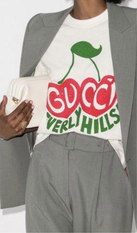 "Gucci ""Beverly Hills"" cherry print koszulka"