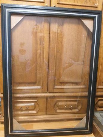 Рама для картины деревянная со стеклом большая, подрамник для батика