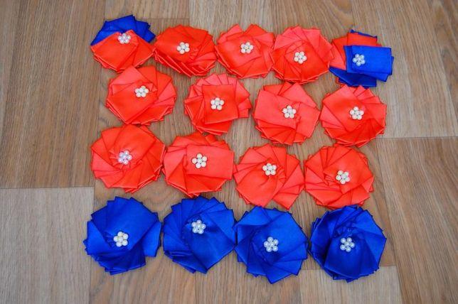 Цветы из лент. Украшение для зала