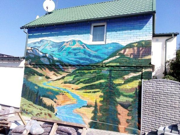 Роспись стен. Граффити оформление