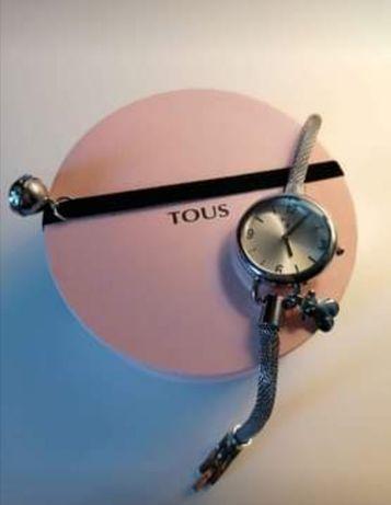 Relógio tipo Tous Hold charms silver Novo