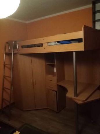 Łóżko pietrowe  z biurkiem