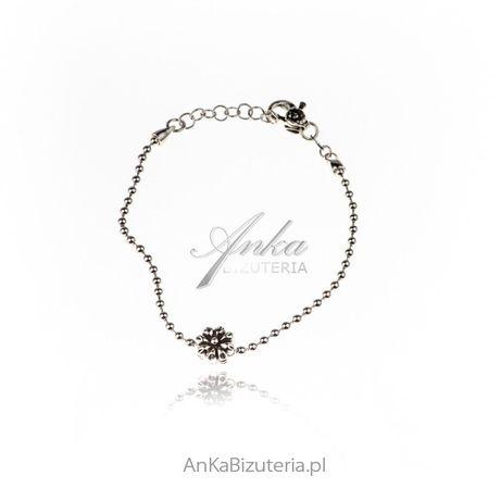 ankabizuteria.pl biżuteria w kolorze granatowym Bransoletka srebrna k