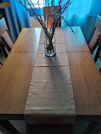 2 sztuki bieżniki na stół, ławę, brązowe