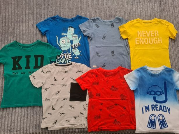 Koszulki t-shirt r 110 reserved 4f cool club 7szt