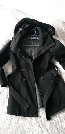 Płaszcz flauszowy damski