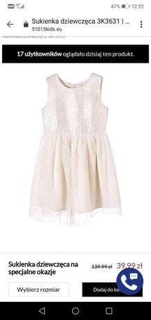 Sukienka dziewczęca 98