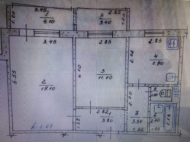 Продажа 2х комнатной квартиры или обмен на дом в г.Яготин