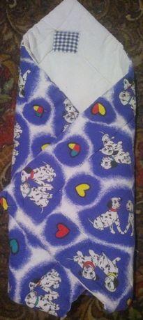 Конверт одеяло на выписку из роддома. 2в1