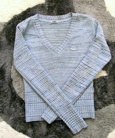 Голубой свитер джемпер кофта кофточка