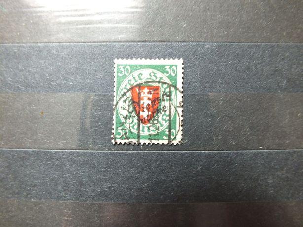 Znaczki Fi U47 nadruk WMG 1930r.,Danzig Wolne Gdańsk Niemcy Rzesza