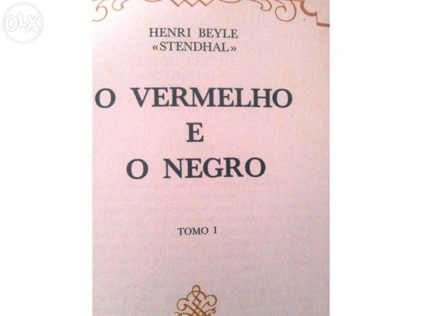 """""""O vermelho e o negro"""", 2 tomos, autor Henri Beyle - """"Standhal""""."""
