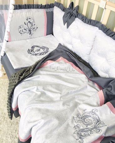 Бортики - защита в кроватку, детская постель, постельный комплект
