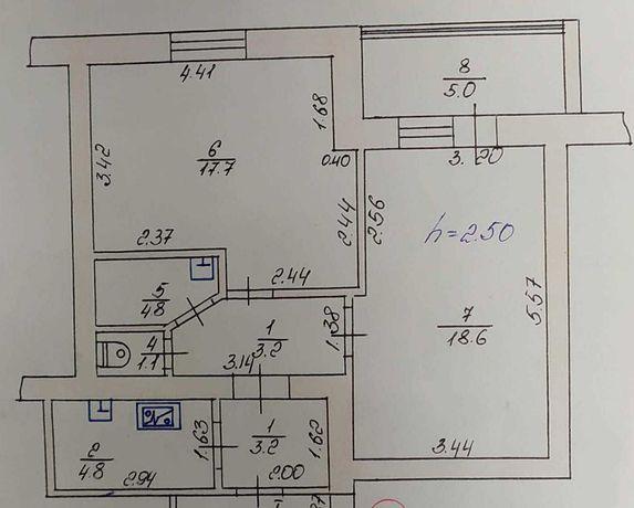 Продам 2 кімнати в Луцьку на вул. Володимирській