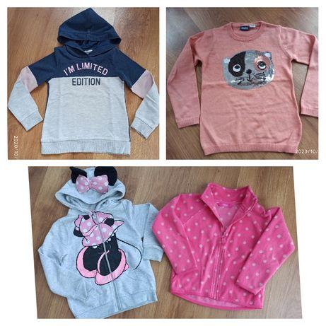 Bluzy H&M, sweterek, polar r. 110-116