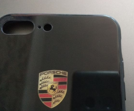 iPhone 8 plus - Twarde etui z logo Porsche